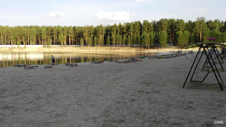 Пляж в кургане фото