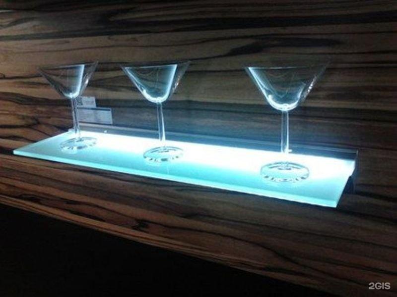 Светодиодные лента для стеклянных полок своими руками