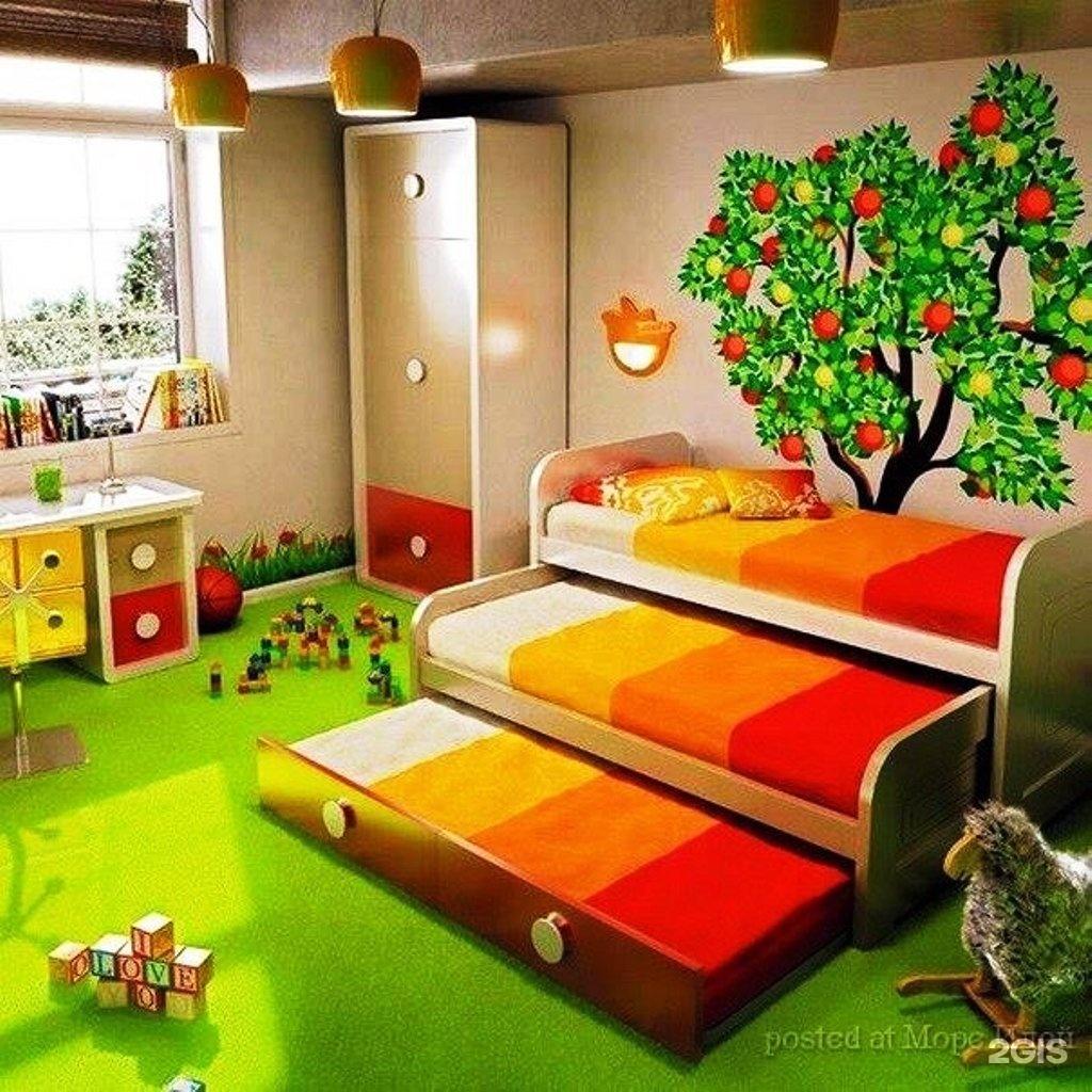 Фото детской спальни для 3 детей