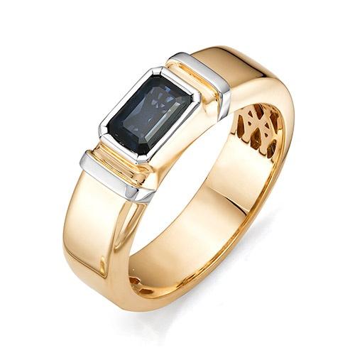 zoom. мужское кольцо с большим изумрудом код кольца: 11371-101 Ювелирная фабрика Алькор в ювелирном магазине