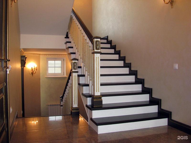 Комбинированные лестницы фото