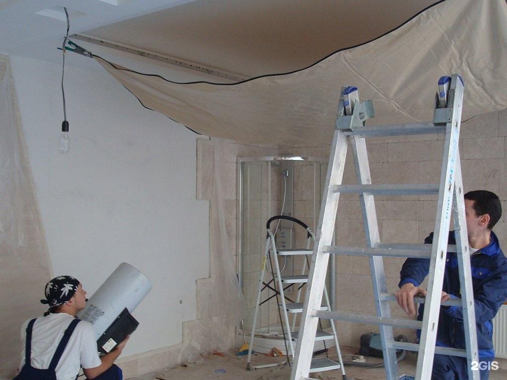 Монтаж натяжного потолка без нагрева своими руками 2