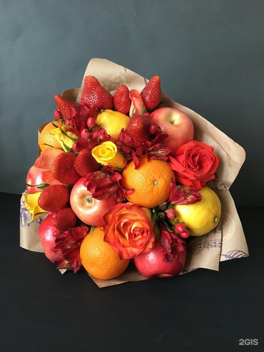 Букет для свекрови из фруктов
